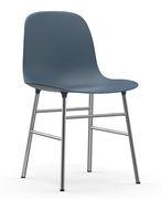 Chaise Form Pied chromé Normann Copenhagen bleu,chromé en matière plastique