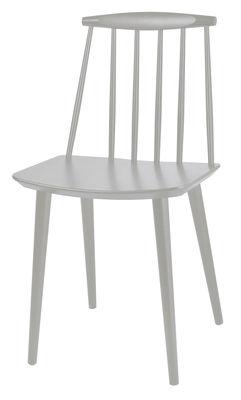 Mobilier - Chaises, fauteuils de salle à manger - Chaise J77 / Bois - Hay - Gris clair - Hêtre laqué