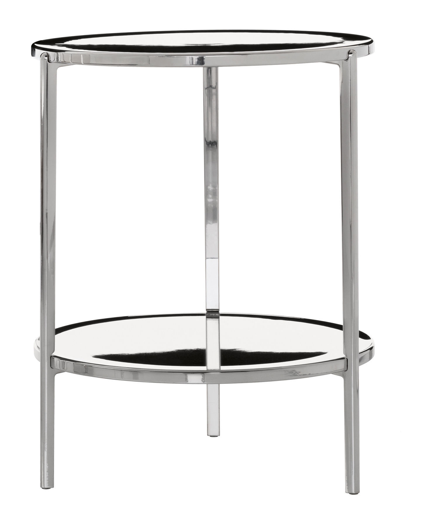 Möbel - Tambour Couchtisch H 65 cm - Magis - Poliertes Aluminium - Aluminium
