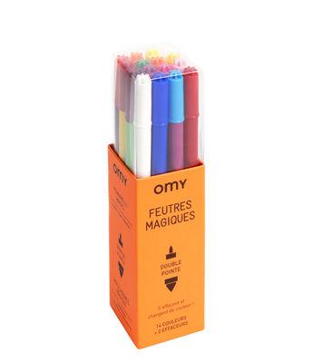 Feutres magiques / Lot de 16 - OMY Design & Play multicolore en matière plastique