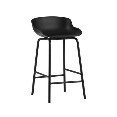 Furniture - Bar Stools - Hyg High stool - / H 65 cm - Polypropylene by Normann Copenhagen - Black - Polypropylene, Steel