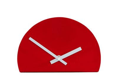 Déco - Horloges  - Horloge à poser Unfinished / L 20 x H 13 cm - Thelermont Hupton - Rouge - Acier laqué