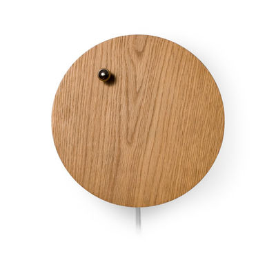 Horloge Story / Bille en lévitation - Flyte chromé,chêne en bois