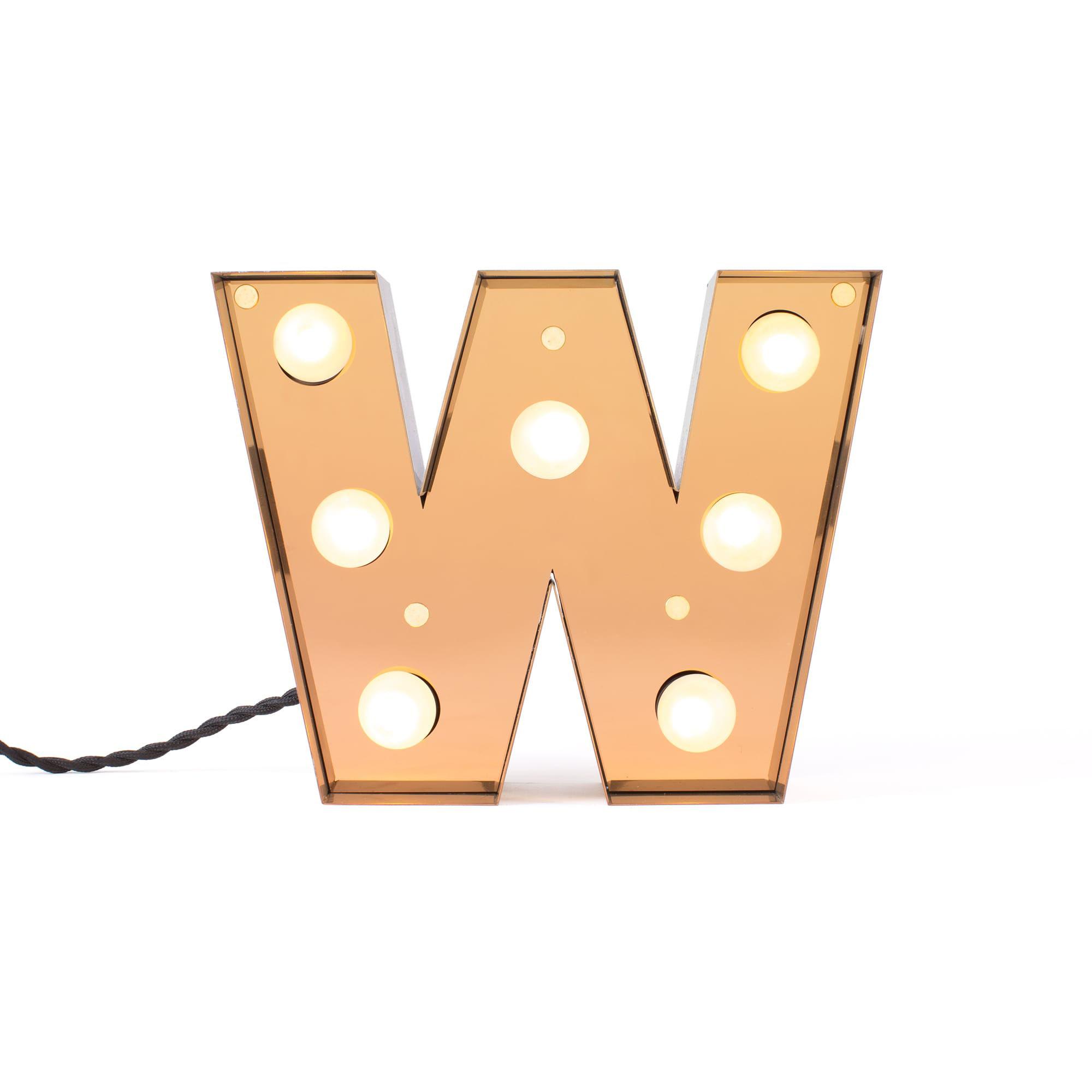 Interni - Per bambini - Lampada da tavolo Caractère - / Applique - Lettera W - H 20 cm di Seletti - W - metallo laccato