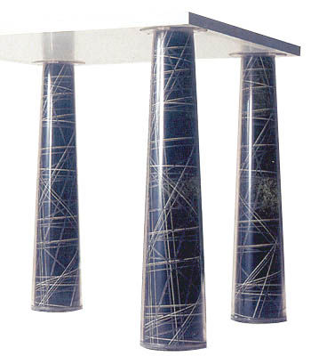 Furniture - Teen furniture - n°7 Table accessory - For the Flare tables legs - Set of 4 by Magis - Pattern N°7 - Paper coated with plastic
