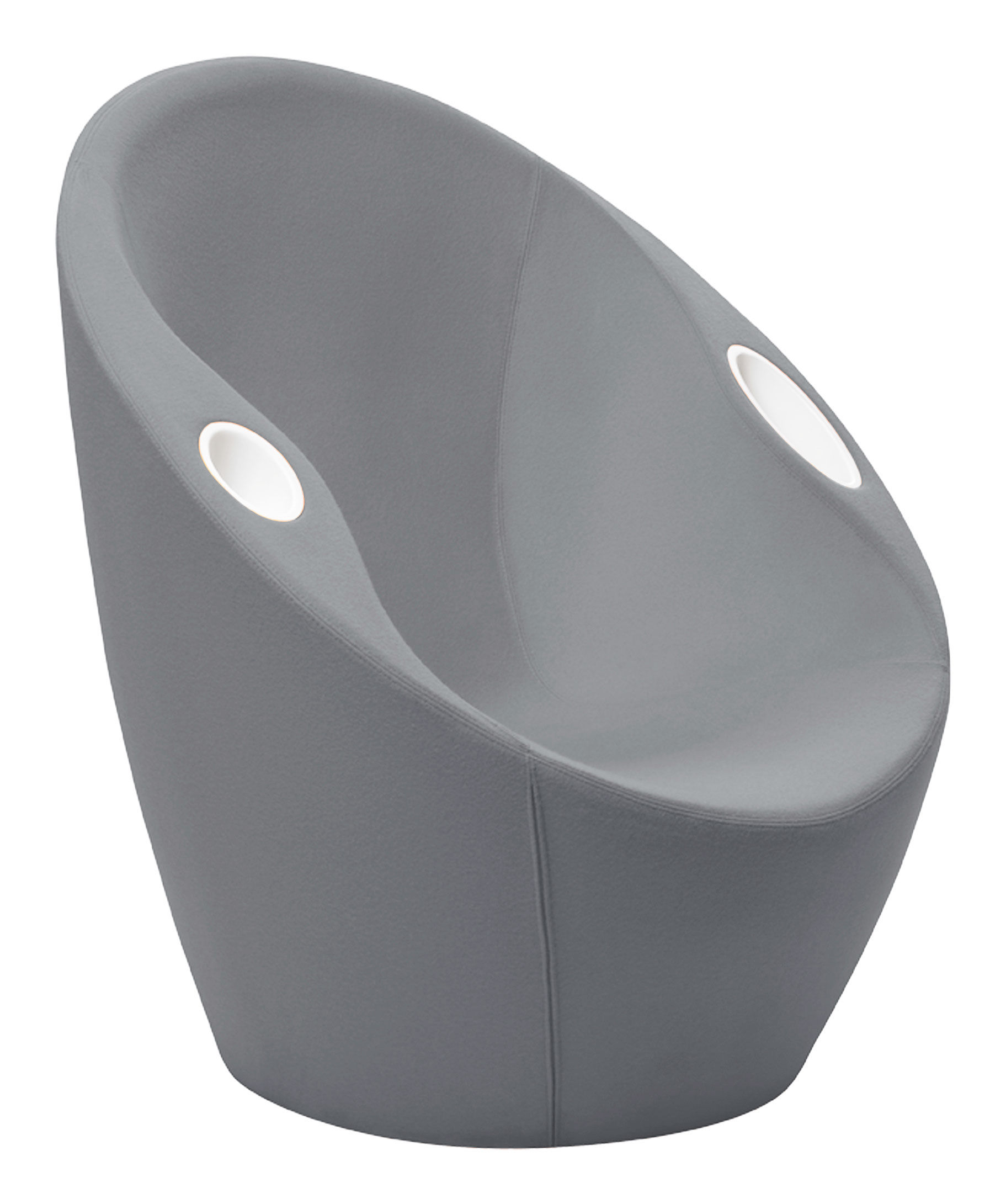 Furniture - Armchairs - Ouch Padded armchair - With elbow rest by Casamania - Grey - Fabric, Foam, Metal