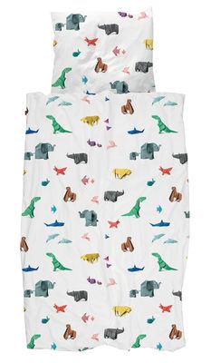 Parure de lit 1 personne Paper Zoo / 140 x 200 cm - Snurk multicolore en tissu
