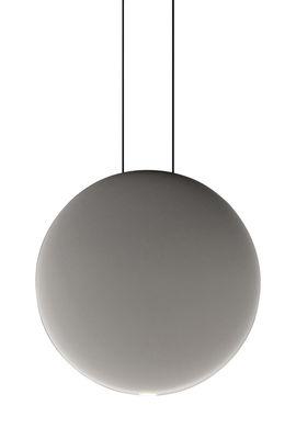 Leuchten - Pendelleuchten - Cosmos Pendelleuchte LED / Ø 27 cm - Vibia - Grau - Polykarbonat