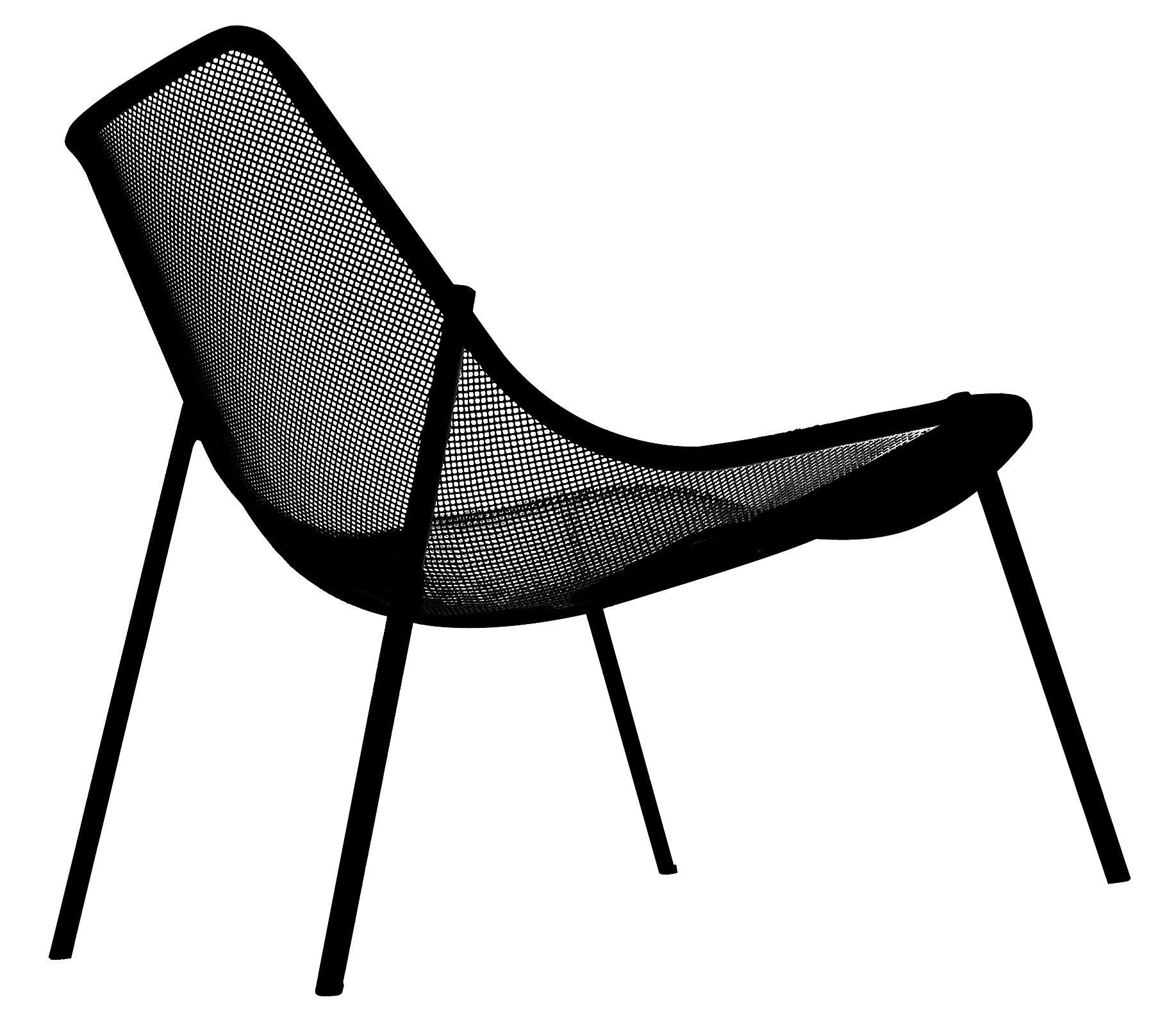 Arredamento - Poltrone design  - Poltrona bassa Round di Emu - Nero - Acciaio