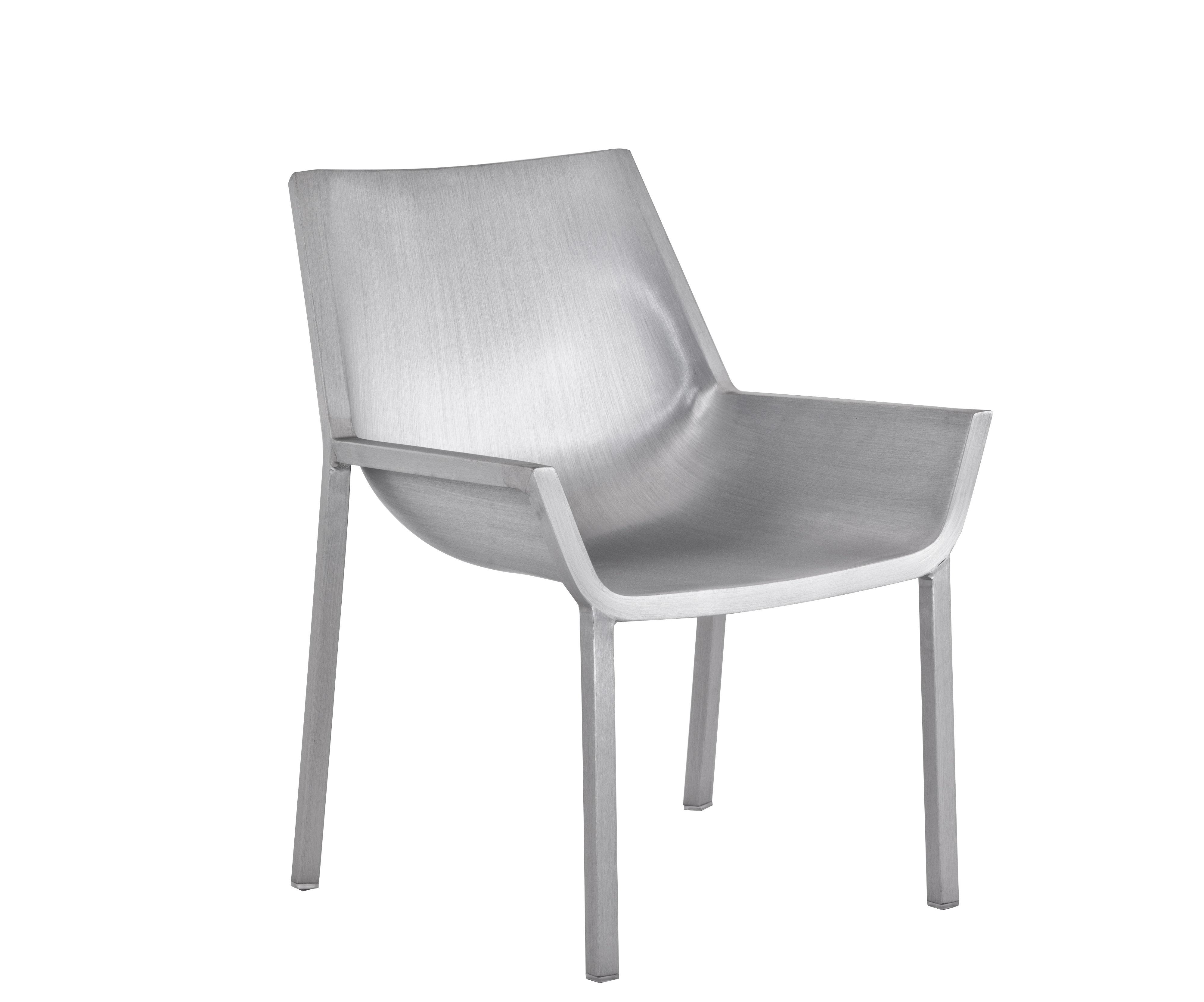 Arredamento - Poltrone design  - Poltrona bassa Sezz di Emeco - Alluminio spazzolato - Aluminium recyclé finition brossé