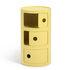 Portaoggetti Componibili Bio - / 3 cassetti - Materiale naturale & biodegradabile di Kartell