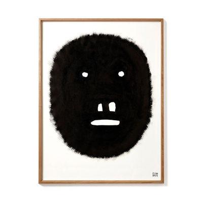 Interni - Sticker - Poster incorniciato Pierre Charpin - Fat Monkey - / Edizione limitata & numerata - 50,6 x 66,5 cm di The Wrong Shop - Fat Monkey / Nero & cornice rovere - Papier premium, Plexiglas, Rovere