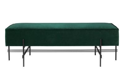 Arredamento - Pouf - Pouf TS - Velluto / Gamfratesi - 120 x 40 cm di Gubi - 120 x 40 cm / Velluto verde scruo - Espanso, metallo laccato, Velluto