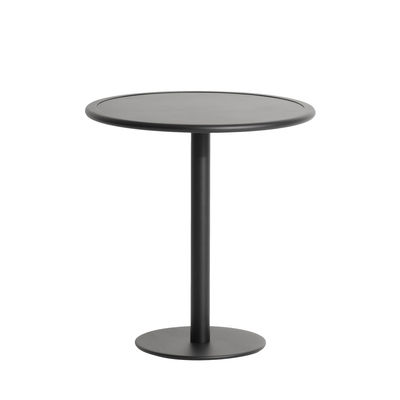 Outdoor - Garden Tables - Week-End Round table - / Bistrot - Aluminium - Ø 70 cm by Petite Friture - Black - Powder coated epoxy aluminium