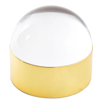Küche - Dosen, Boxen und Gläser - Globo Box Schachtel / Ø 15 cm x H 13,5 cm - Jonathan Adler - Ø 15 cm x H 13,5 cm - Messing, goldfarben - Messing