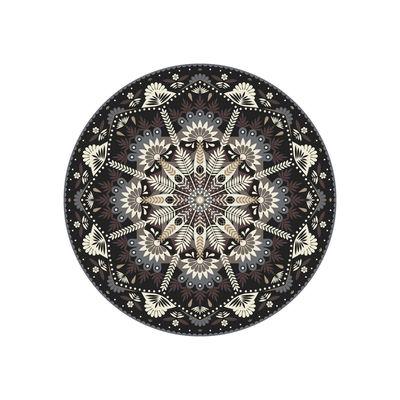 Arts de la table - Nappes, serviettes et sets - Set de table Baba Souk / Ø 38 cm - Vinyle - PÔDEVACHE - Gris, marron, bleu - Vinyle