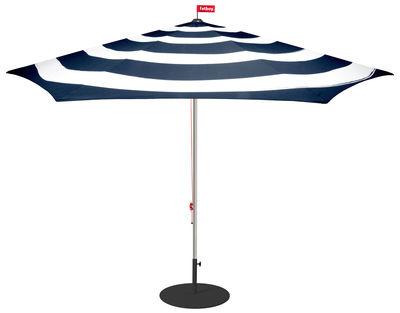 Outdoor - Sonnenschirme - Stripesol Sonnenschirm / Ø 350 cm - Fatboy - Tiefblau - Aluminium, Outdoor-Stoff aus Polyester