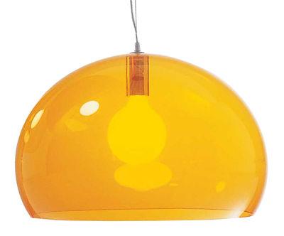 Illuminazione - Lampadari - Sospensione FL/Y di Kartell - Arancione - PMMA colorato in massa