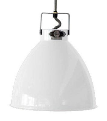 Suspension Augustin Large Ø 36 cm - Jieldé blanc brillant en métal