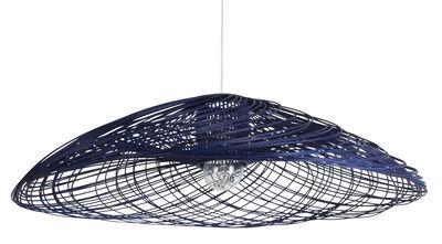 Suspension Satélise L / Rotin - Ø 100 cm - Forestier bleu en fibre végétale