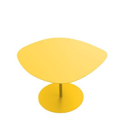 Table basse Galet n°1 / OUTDOOR - 59 x 63 - H 39,9 cm - Matière Grise jaune poussin en métal