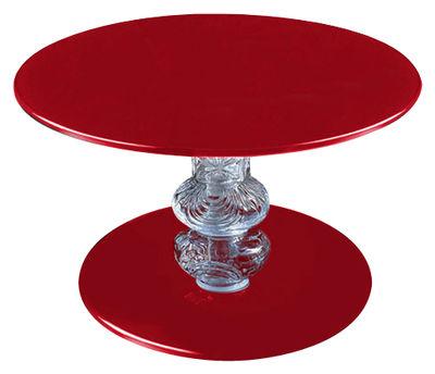 Table d'appoint Calice - Glas Italia rouge en verre