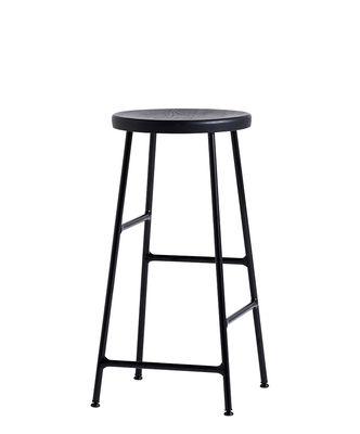 Tabouret de bar Cornet / H 65 cm - Bois & métal - Hay noir en métal