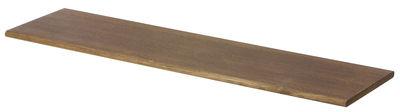 Arredamento - Scaffali e librerie - Tavolino - Per mensola The Shelf / L  85 cm di Ferm Living - Rovere fumé (scuro) - Compensato di rovere affumicato