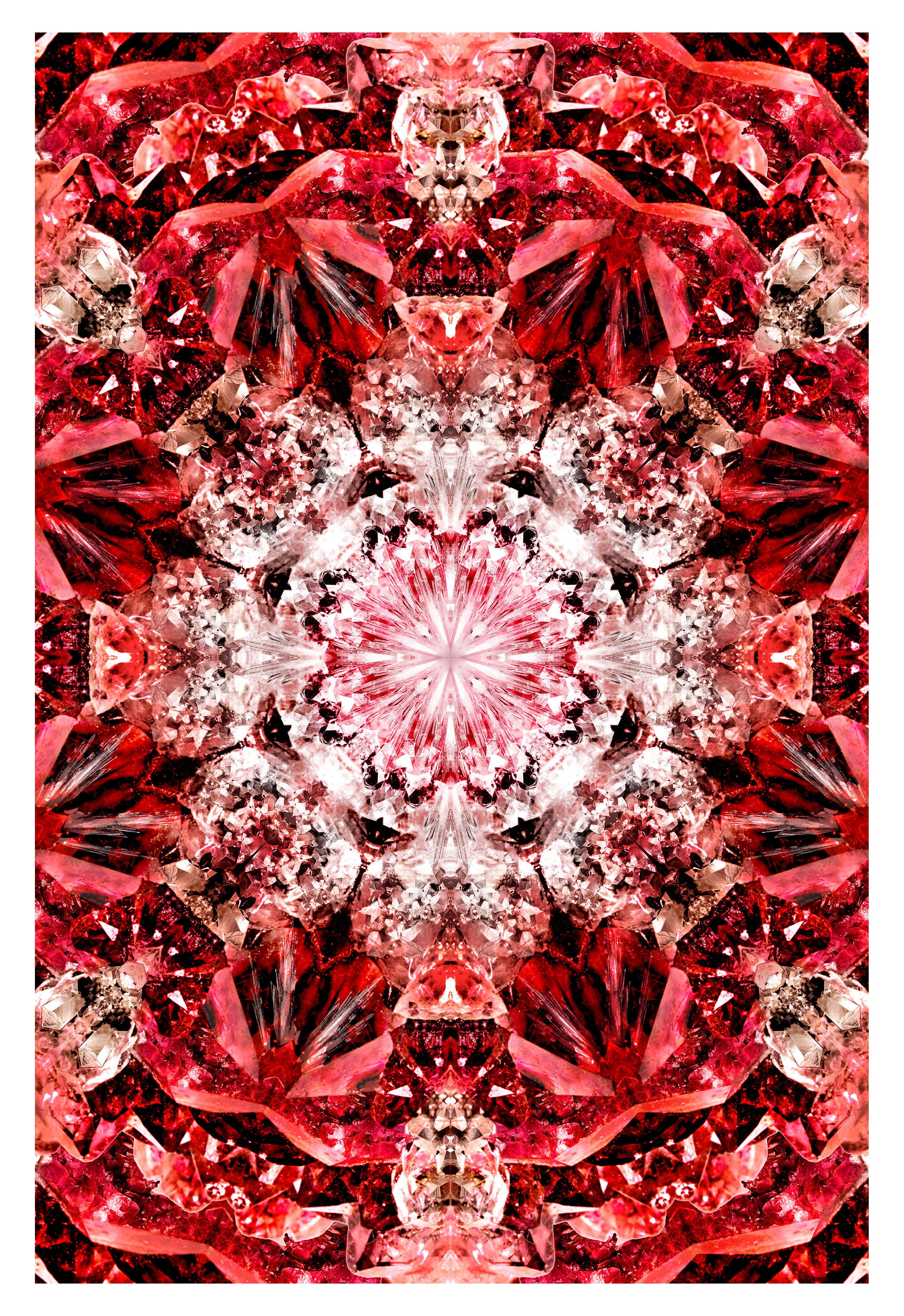 Dekoration - Teppiche - Crystal Fire Teppich / 300 x 200 cm - Moooi Carpets - Rottöne - Polyamid