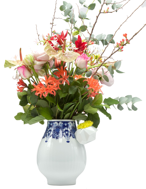Déco - Vases - Vase Delft Blue 8 - Moooi - Blanc & bleu - Porcelaine