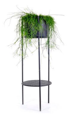 Outdoor - Vasi e Piante - Vaso di fiori Ent Large / H 98 cm - Metallo - XL Boom - H 98 cm / Nero - Acier laqué époxy