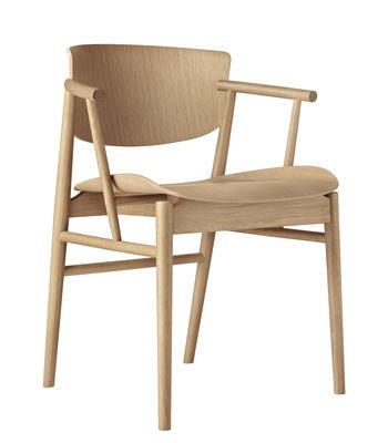 Furniture - Armchairs - N01 Armchair - / Bois naturel by Fritz Hansen - Chêne naturel - Solid oak, Veneer