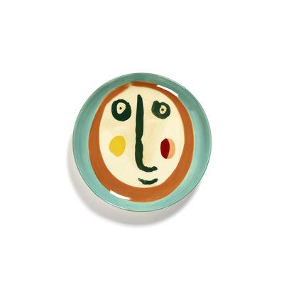 Arts de la table - Assiettes - Assiette à dessert Feast Small / Ø 19 cm - Serax - Visage 2 / Multicolore - Grès émaillé