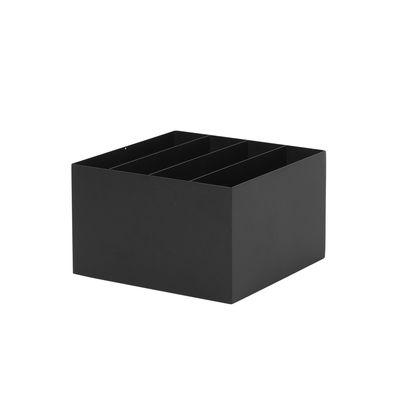 Bac compartimenté / Pour jardinière Plant Box - Prof. 25 cm - Ferm Living noir en métal