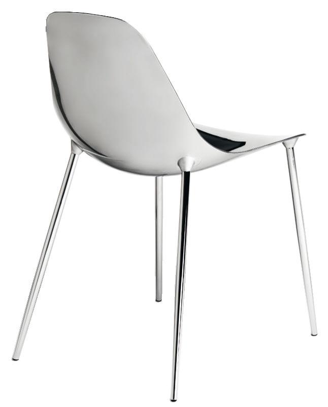 Furniture - Chairs - Mammamia Chair - Metal shell & legs by Opinion Ciatti - Chromed - Aluminium, Metal