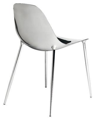 Mobilier - Chaises, fauteuils de salle à manger - Chaise Mammamia / Coque et pieds métal - Opinion Ciatti - Chromé - Aluminium, Métal