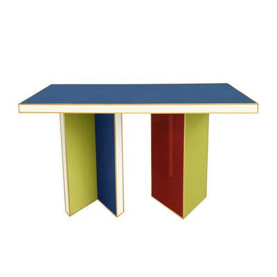 Arredamento - Console - Console: Torino - / L 127 cm - Vetro di Jonathan Adler - Multicolore - Ottone lucido, Vetro