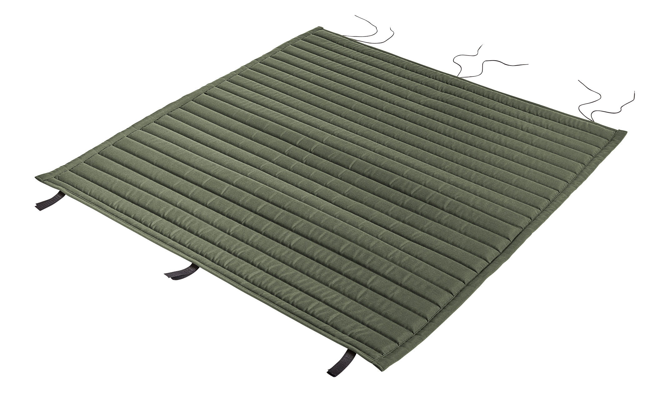 Decoration - Cushions & Poufs - Cushion - integral / For Palissade bench with backrest by Hay - Integral cushion / Olive green - Foam