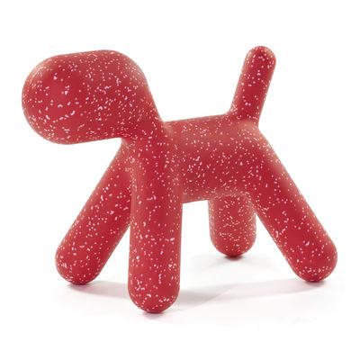 Mobilier - Mobilier Kids - Décoration Puppy Large /  L 69 cm - Edition limitée Noël 2020 - Magis Collection Me Too - Rouge / Moucheté blanc - Polyéthylène rotomoulé