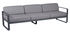 Divano destro Bellevie - 3 posti / L 235 cm - Tessuto grigio di Fermob