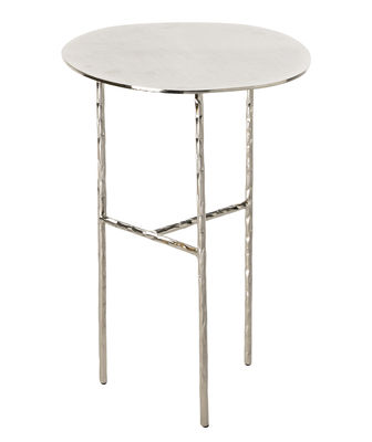 Furniture - Coffee Tables - XXX Small End table - / Ø 33 x H 48 cm by Opinion Ciatti - Nickel - Galvanised  nickel, Wrought iron