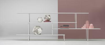 Mobilier - Etagères & bibliothèques - Etagère Super_position / Compo B - L 365 x H 108 cm - MDF Italia - Blanc - Aluminium extrudé