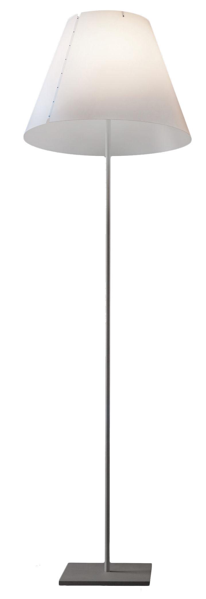 Lighting - Floor lamps - Grande Costanza Floor lamp by Luceplan - Alu / white - Aluminium