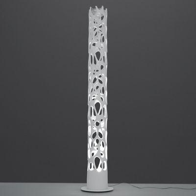 Lampadaire New Nature LED / Bluetooth - H 188 cm - Artemide blanc en matière plastique