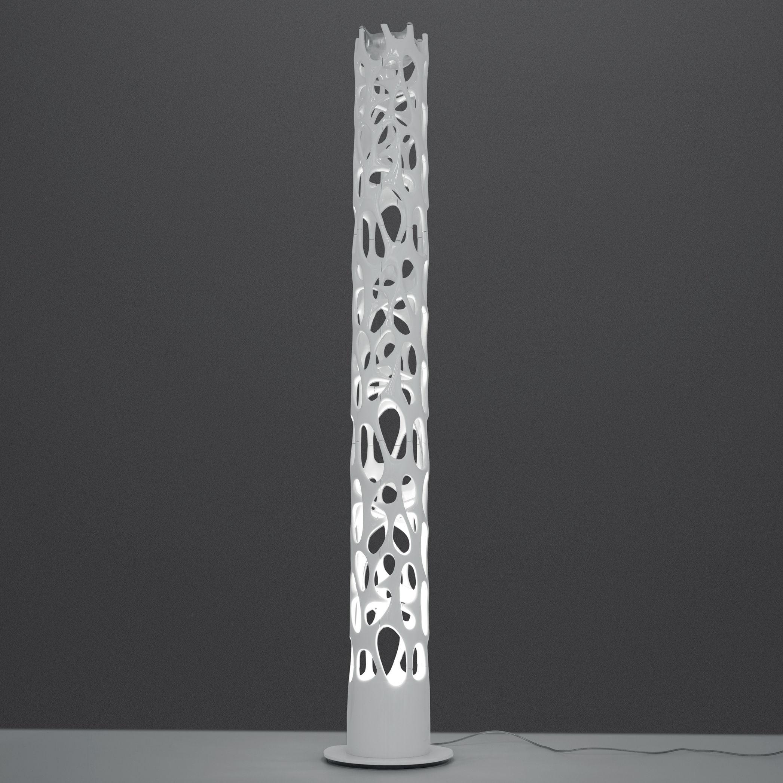 Luminaire - Lampadaires - Lampadaire New Nature LED / Bluetooth - H 188 cm - Artemide - Bluetooth / Blanc - Acier chromé, Thermoplastique