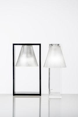 Lampe de table Light-Air Kartell - Plastique noir / Cadre cristal ...