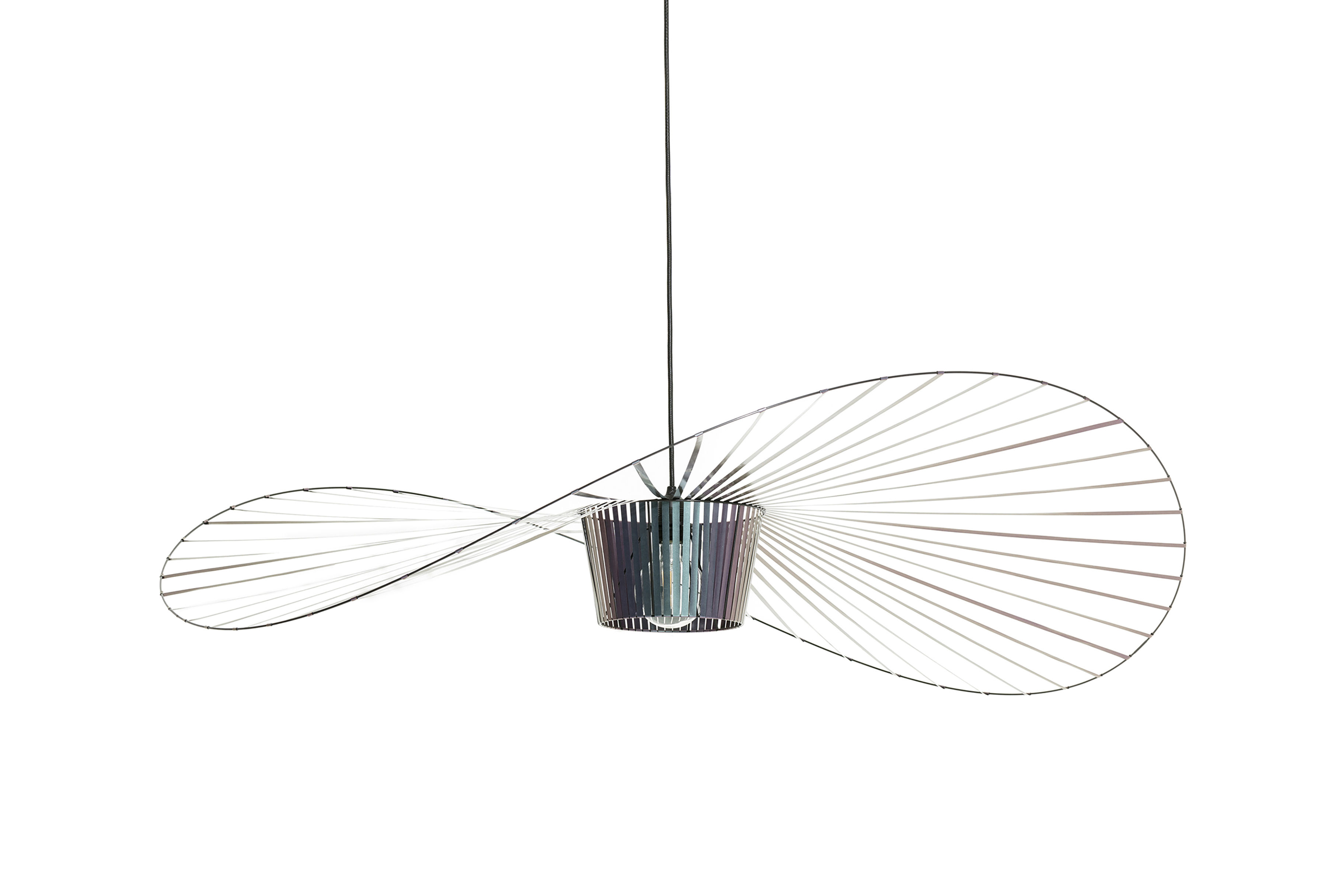 Lighting - Pendant Lighting - Vertigo Small Pendant - / Ø 140 cm by Petite Friture - Scarab beetle (iridescent black) - Fibreglass, Polyurethane