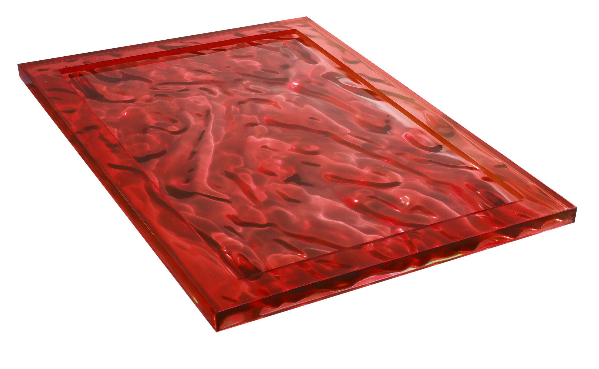 Tavola - Vassoi  - Piano/vassoio Dune - 55 x 38 cm di Kartell - Rosso - Tecnopolimero