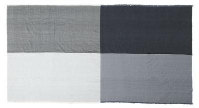 Plaid Square Throw / Laine - Tissé main au Népal - 180 x 140 cm - Menu gris en tissu