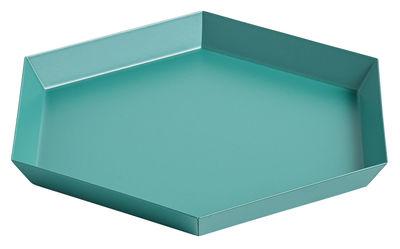 Plateau Kaleido Small / 22 x 19 cm - Hay vert en métal